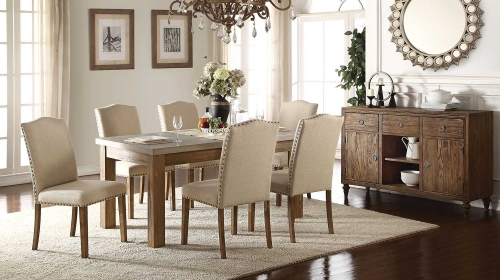 Parker Dining Set - Concrete Gray/Salvage Oak