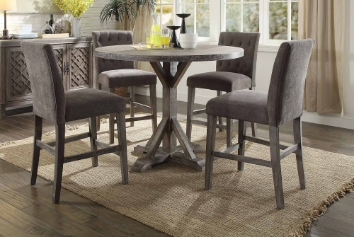Carmelina Counter Height Dining Set - Weathered Gray Oak