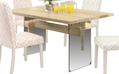 Glassden Dining Table - Light Oak/Clear Glass