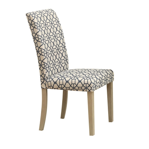 Glassden Side Chair - Blue/Light Oak