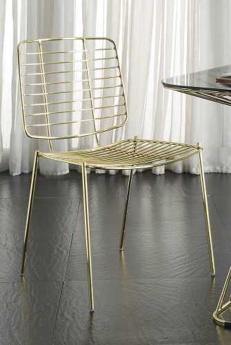 Rianne Side Chair - Gold