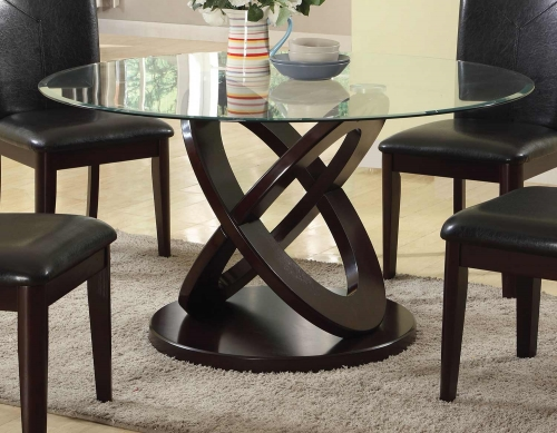 Gable Dining Table - Espresso/Clear Glass