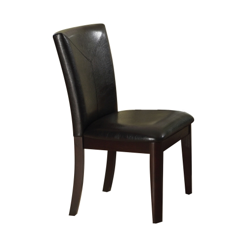 Gable Side Chair - Espresso Vinyl/Espresso