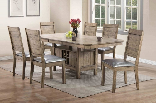 Ramona Dining Set - Rustic Oak
