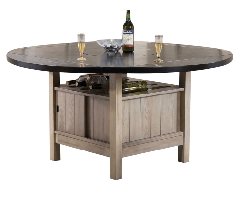 Ramona Dining Table - Dark Walnut/Antique Beige