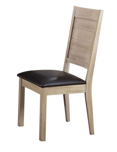 Ramona Side Chair - Espresso Vinyl/Antique Beige