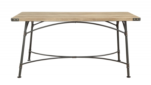 Itzel Dining Table - Antique Oak/Sandy Gray