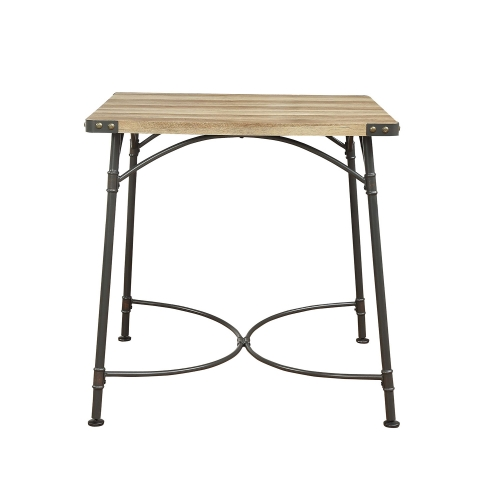 Itzel Counter Height Table - Antique Oak/Sandy Gray