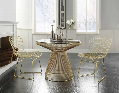 Rasia (Rianne) Dining Set - Gold
