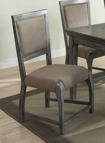 Freira Side Chair - Bronze Fabric/Antique Gray