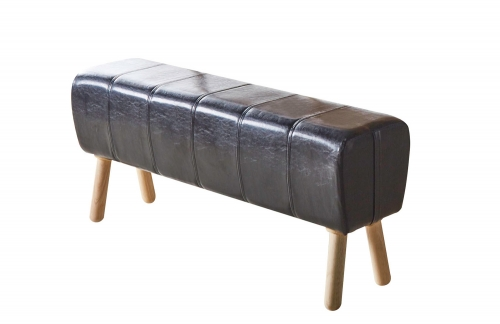 Dessa Bench - Black Vinyl/Natural