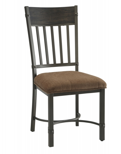 Kipp Side Chair - Fabric/Antique Black