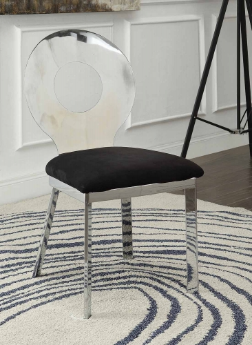 Hagelin Side Chair - Black Mfb/Chrome