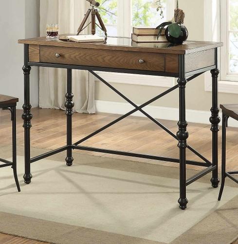 Jalisa Counter Height Table - Walnut/Black