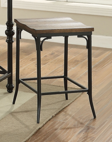 Jalisa Counter Height Stool - Walnut/Black