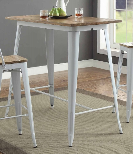 Jakia II Bar Table - Natural/White