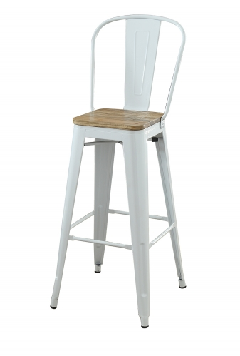 Jakia II Bar Armless Chair - Natural/White