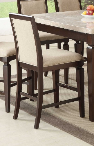 Agatha Counter Height Chair - Linen/Espresso
