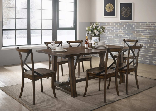 Kaelyn Dining Set - Dark Oak