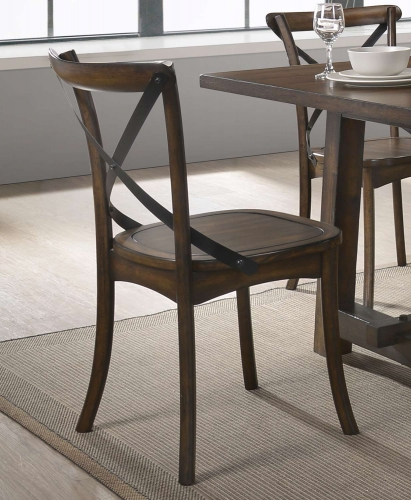 Kaelyn Side Chair - Dark Oak/Black