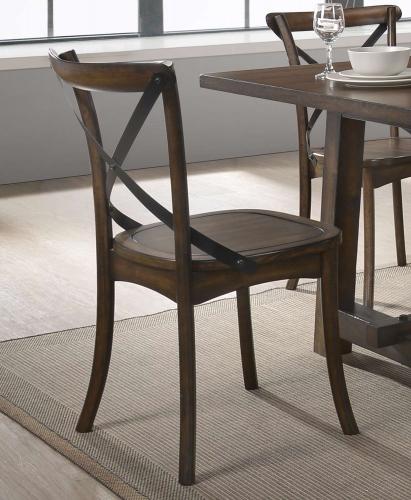 Kaelyn Side Chair - Dark Oak/Black