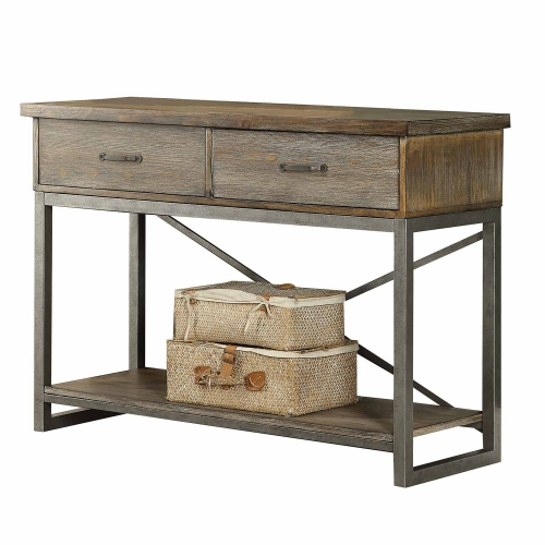 Lazarus Server - Weathered Oak/Antique Silver
