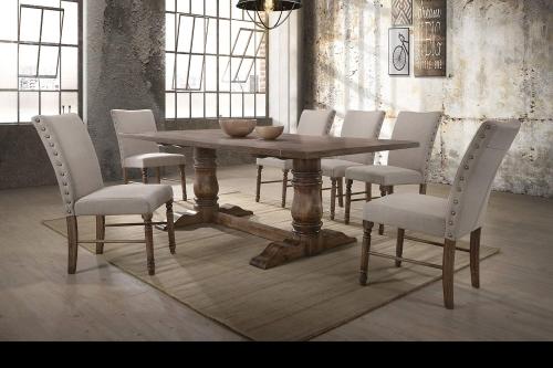 Leventis Dining Set - Weathered Oak