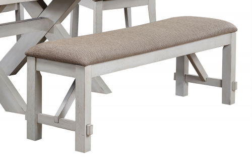 Apollo Bench - Fabric/Antique White