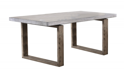 Paulina Dining Table - Light Gray/Rustic Oak