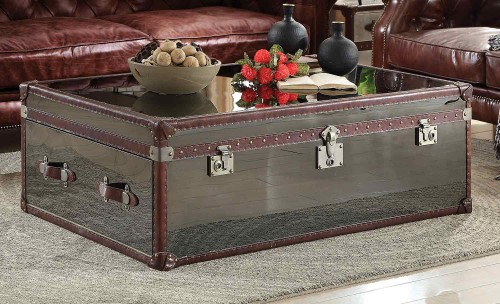 Aberdeen Coffee Table - Vintage Dark Brown TG Leather