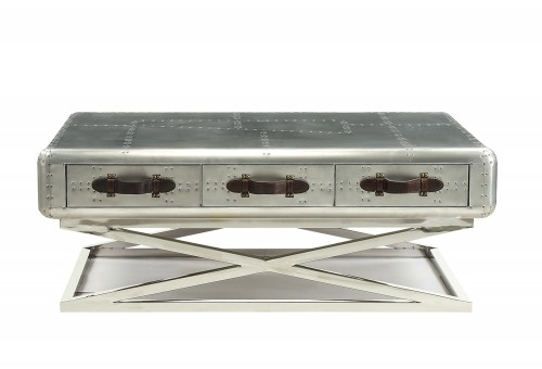 Aberdeen (II) Coffee Table - Aluminum