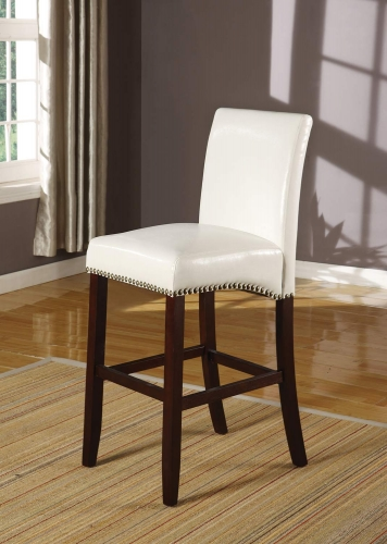 Jakki Bar Chair - White Vinyl