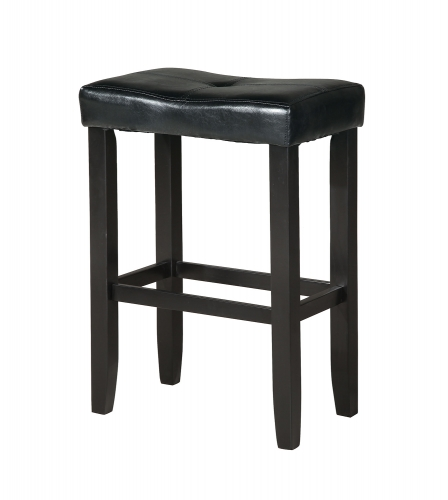 Micha Counter Height Stool - Black Vinyl/Black