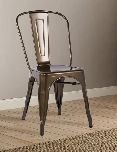 Jakia Side Chair - Bronze