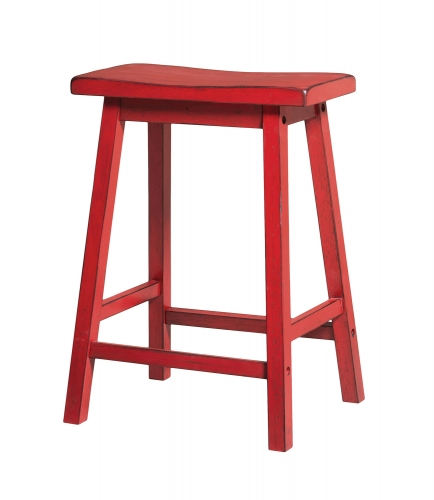 Acme Gaucho Counter Height Stool - Antique Red