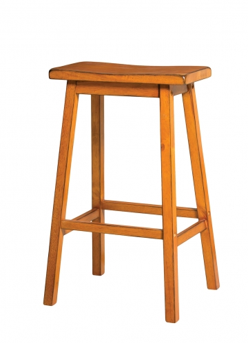 Gaucho Bar Stool - Antique Oak