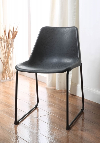 Valgus Side Chair - Vintage Black/Black