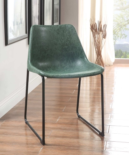 Valgus Side Chair - Vintage Green/Black