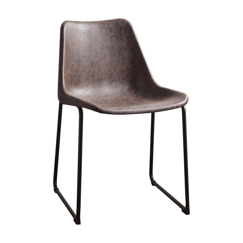 Valgus Side Chair - Vintage Mocha/Black