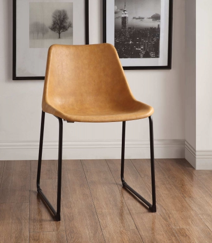 Valgus Side Chair - Vintage Camel/Black