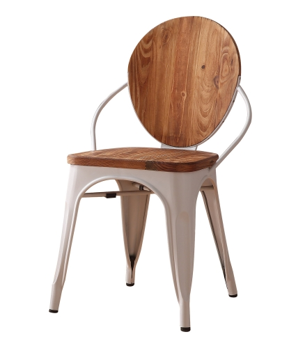 Jakia III Side Chair - Natural/White
