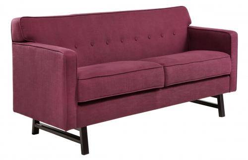 Halston Loveseat - Claret Purple Fabric