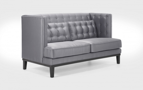 Noho Loveseat Silver Sat-inch Fabric