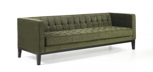 Roxbury Sofa Tufted Green Fabric