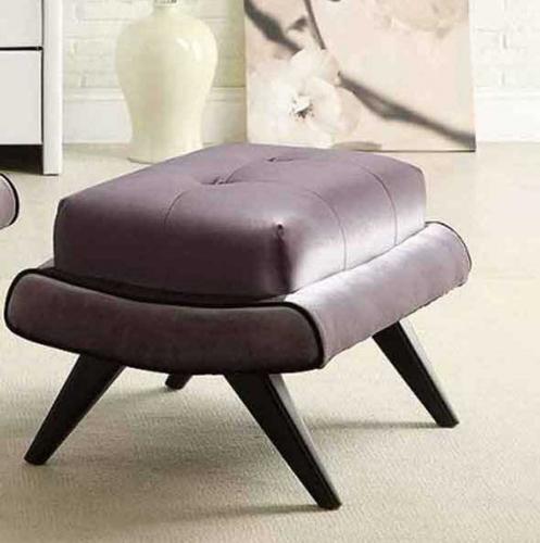 5th Avenue Ottoman - Gray Fabric