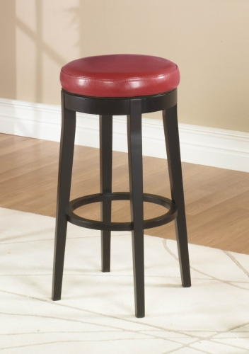 Mbs-450 26-inch Backless Swivel Barstool - Red