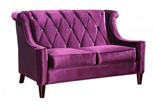 Barrister Velvet Loveseat - Purple