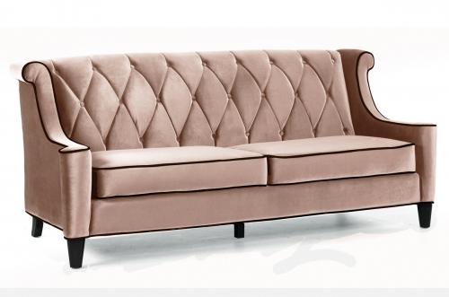 Barrister Sofa Caramel Velvet