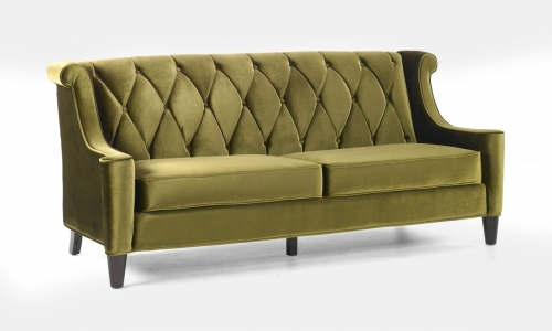 Barrister Sofa Green Velvet