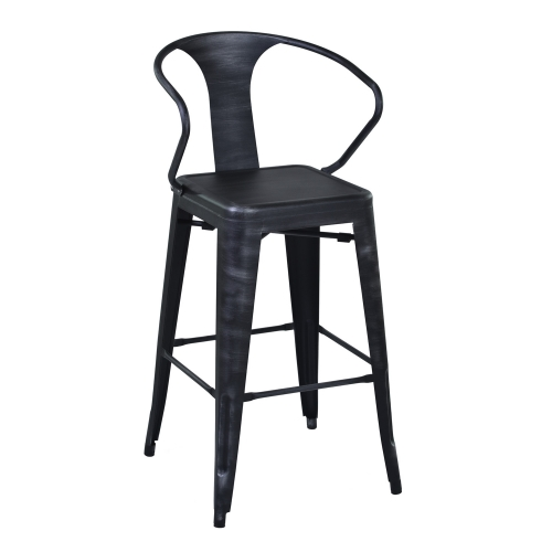 Berkley 26-inch Bar Stool - Grey Clear/Seat